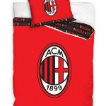 AC Milan Red Single Cotton Duvet Cover Set