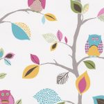 Bright Owls Wallpaper 10m White AS Creation 8563-26