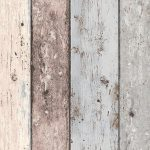 New England Blue and White Wood Effect Wallpaper AS Creation 8550-39
