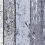 Distressed Wood Panel Wallpaper Blue AS Creation 8550-60