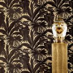 Versace Giungla Palm Leaves Wallpaper – Black and Gold – 10m x 70cm