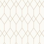 Geometric Diamond Wallpaper White / Copper Esprit 32792-1