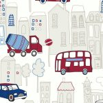 Motor Mania Blue and Red Wallpaper Arthouse 533501