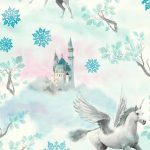 Fairytale Unicorn Wallpaper Blue Arthouse 667800