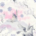 Fairytale Unicorn Wallpaper Lilac Arthouse 667801