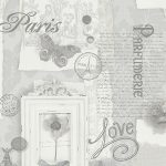 Felicity Paris Wallpaper Grey Arthouse 665401