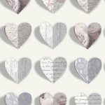 Olivia Hearts Wallpaper Blush Arthouse 669701