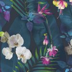 Tropics Pindorama Floral Wallpaper Navy Arthouse 690101