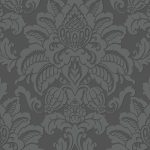 Precious Metals Glisten Damask Wallpaper Gunmetal Arthouse 673201