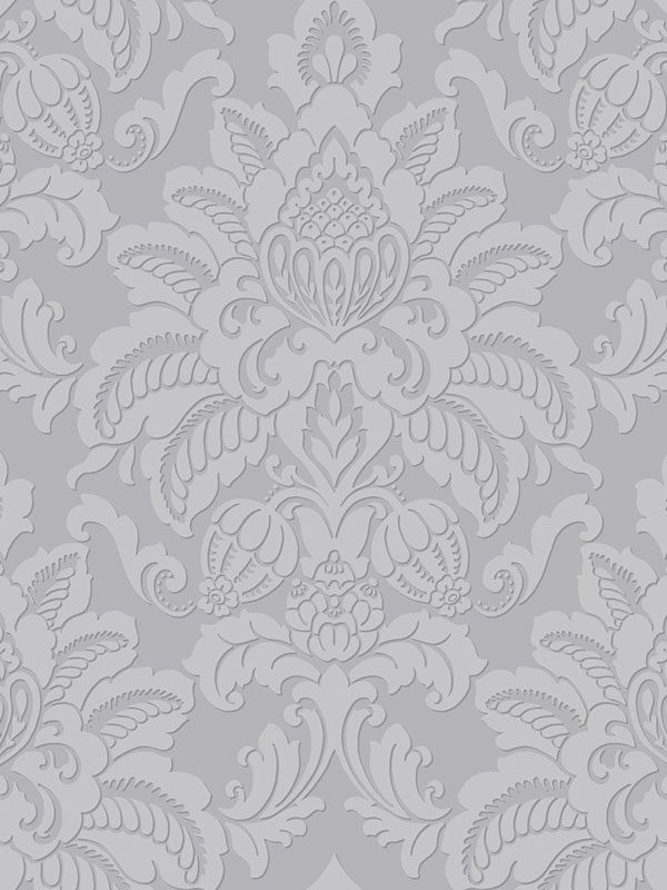 Precious Metals Glisten Damask Wallpaper Platinum Arthouse 673203