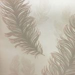 Precious Metals Sirius Feathers Wallpaper Rose Gold Arthouse 673600
