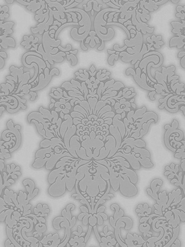 Vicenza Damask Wallpaper Grey Arthouse 270401 Character Bedding