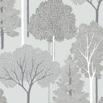Ellwood Trees Wallpaper Silver Arthouse 670002