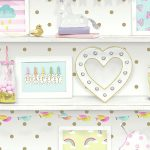 Girls Life Bookshelf Wallpaper Multi Arthouse 696004