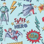 Superhero Wallpaper Blue Arthouse 696200