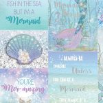 Mermazing Mermaid Glitter Wallpaper – Ice Blue- Arthouse 698304