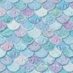 Mermazing Mermaid Scales Glitter Wallpaper – Ice Blue and Aqua –