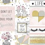 Glam Life Collage Wallpaper Pink Arthouse 699402