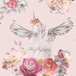 Fantasia Anastasia Unicorn Wallpaper Pink Arthouse 692302
