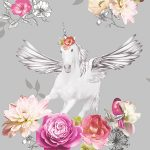 Fantasia Anastasia Unicorn Wallpaper Silver Arthouse 692303