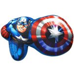 Marvel Avengers Captain America Shaped Cushion
