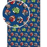 Avengers Single Fitted Sheet – Navy Blue