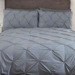 Balmoral Pin Tuck Grey Double Duvet Cover and Pillowcase Set