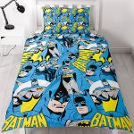Batman Hero Single Duvet Cover and Pillowcase Set