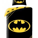 Batman Logo Black Single Duvet Cover and Pillowcase Set