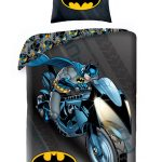 Batman Batcycle Single Duvet Cover and Pillowcase Set