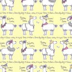 Llama-Rama Wallpaper Yellow Belgravia L9732
