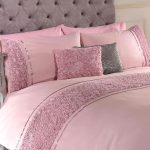 Limoges Rose Ruffle Blush Pink Super King Duvet Cover and Pillowcase