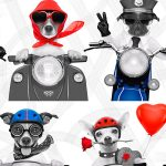 Biker Dogs Wallpaper Muriva 102561