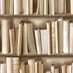 Bookcase Wallpaper Natural Muriva J43027