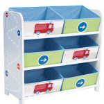Boys Vehicles 6 Bin Storage Unit