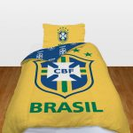 Brazil Football Team Official Single Duvet Cover and Pillowcase Set –