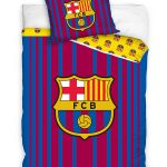 FC Barcelona Barcode Stripe Single Duvet Cover Set