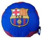 FC Barcelona Football Shaped Filled Cushion