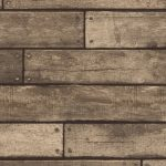 Brown Wooden Plank Effect Wallpaper Fine Decor FD31289