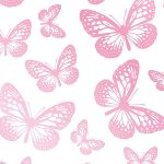 Butterfly White and Pink Wallpaper 10m Fine Decor FD40275
