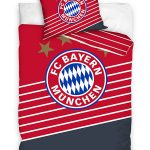 FC Bayern Munich Red Single Cotton Duvet Cover Set