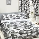 Grey Army Camouflage Reversible Double Duvet Cover and Pillowcase Set