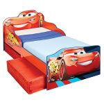 Disney Cars Lightning McQueen Toddler Bed with Storage plus Foam