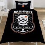 Call Of Duty Black Ops Emblem Single Duvet Cover Set