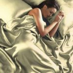 Cream Satin Double Duvet Cover, Fitted Sheet and 4 Pillowcases Bedding