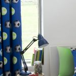Catherine Lansfield Lined Football Curtains – Blue