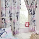 Stardust Unicorn Lined Curtains – Purple and Teal