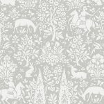 Crown Archives Woodland Wallpaper Grey M1168