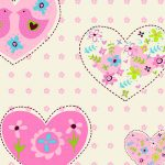Hearts and Birds Wallpaper Pink Debona 6340