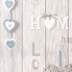 Love Your Home Wallpaper Blue Fine Decor FD41719